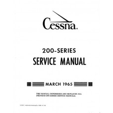 Cessna 200 Series Shop Service Repair Manual 1965