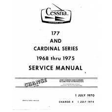 Cessna 177 and Cardinal Series Shop Service Repair Manual 1968 thru 1975