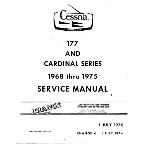 Cessna 177 And Cardinal Series Shop Service Repair Manual