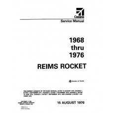Cessna Reims Rocket Shop Service Repair Manual 1968 thru 1976