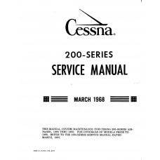 Cessna 200 Series Shop Service Repair Manual 1968