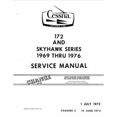 Cessna 172 and Skyhawk Series Shop Service Repair Manual 1969 - 1976