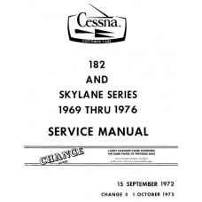 Cessna 182 and Skylane Series Shop Service Repair Manual 1969 thru 1976