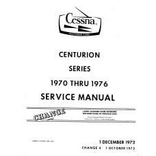 Cessna Centurion Series Shop Service Repair Manual 1970 - 1976
