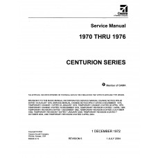 Cessna Centurion Series Shop Service Manual 1970 thru 1976 Revised 2004