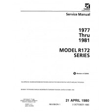 Cessna R172 Series Shop Service Repair Manual 1977 thru 1981