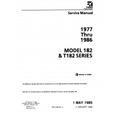 Cessna 182 and T182 Series Shop Service Repair Manual 1977 thru 1986