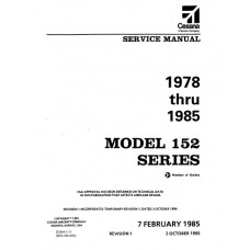 Cessna 152 Series Shop Service Repair Manual 1978 thru 1985