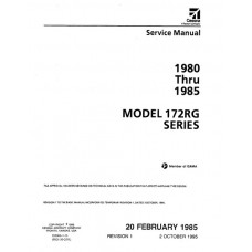 Cessna 172RG Series Shop Service Repair Manual 1980 thru 1985