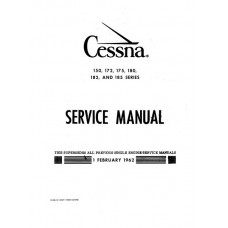 Cessna 150 172 175 180 182 and 185 Series Shop Service Manual 1962