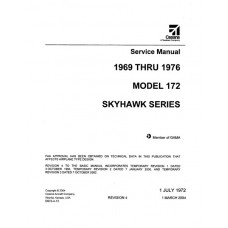 Cessna 172 Skyhawk Series Shop Service Manual 1969 thru 1976 Revised 2004