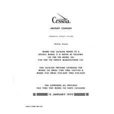 Cessna 172, P172, FP172 and Skyhawk Models Parts Catalog 1963 thru 1975