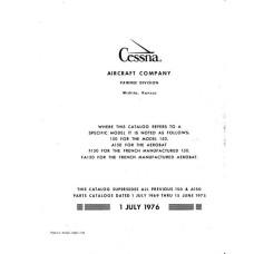 Cessna 150 and A150 Parts Catalog 1969 thru 1975
