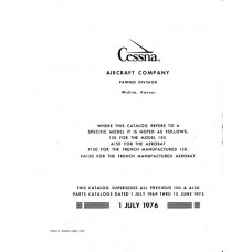 Cessna 150, A150, F150 and FA150 Parts Catalog 1969 thru 1976