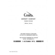 Cessna 182 and Skylane Aircraft Parts Catalog 1974 thru 1976