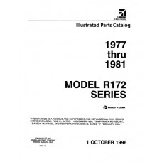 Cessna R172 Series Parts Catalog 1977 thru 1981 Revised 1996
