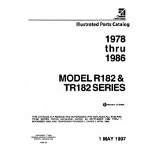 Cessna R182 and TR182 Series Parts Catalog 1978 thru 1986 Revised 1997