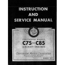 Continental C75 C85 Stromberg Bendix NA-S3A1 Aircraft Carburetor Shop Service Manual