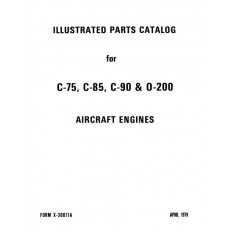 Continental C75, C85, C90 and O-200 Aircraft Engines Parts Catalog