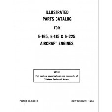 Continental E-165, E-185 and E-225 Aircraft Engines Parts Catalog