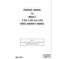 Continental E-165, E-185 and E-225 Series Aircraft Engines Repair Overhaul Manual