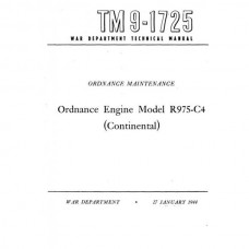 TM 9-1725 Ordnance Engine R975-C4 Continental Technical Manual 1944