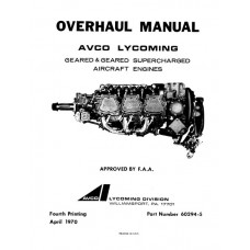 Lycoming 60294-5-6 Geared and Geared Supercharged Aircraft Engines Repair Overhaul Manual