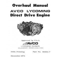Lycoming 60294-7-4 Direct Drive Engine Repair Overhaul Manual