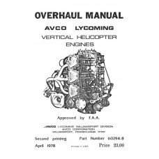 Lycoming 60294-8-3 Vertical Helicopter Engines Repair Overhaul Manual