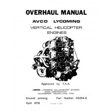 Lycoming 60294-8 Vertical Helicopter Engines Repair Overhaul Manual