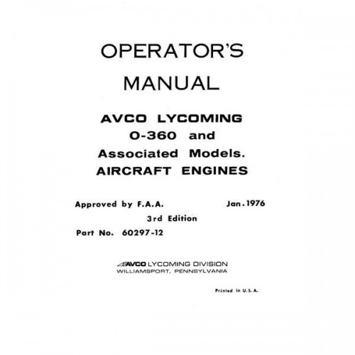 Lycoming 360 Installation Manual