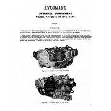 Lycoming IO-540-B1A5 Overhaul Manual Supplement
