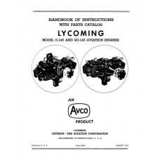Lycoming O-145 and GO-145 Aviation Engines Parts and Service Manual