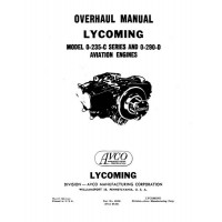 Lycoming O-235-C Series and 0-290-D Aviation Engines Repair Overhaul Manual