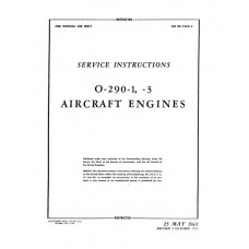 Lycoming O-290-1, 3 Aircraft Engines Service Repair Manual