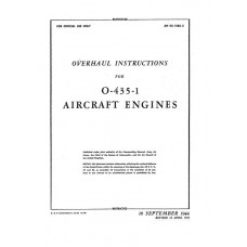 Lycoming O-435-1 Aircraft Engines Repair Overhaul Instructions Manual 1944 1945