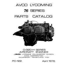 Lycoming 76 Series O-320-H Series Aircraft Engines PC-122 Parts Manual