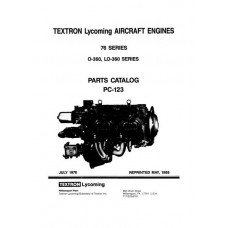 Lycoming 76 Series O-360, LO-360 Series PC-123 Aircraft Engines Parts Catalog 1978