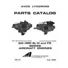 Lycoming GO-480-B,D and F6 Series Aircraft Engines PC-111 Parts Catalog 1969