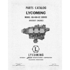 Lycoming GO-480-C2 Series Aircraft Engine Parts Manual 1956