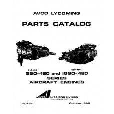 Lycoming GSO-480 and IGSO-480 Series PC-114 Aircraft Engines Parts Manual