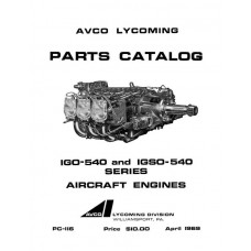Lycoming IGO-540 and IGSO-540 Series PC-116 Aircraft Engines Parts Manual