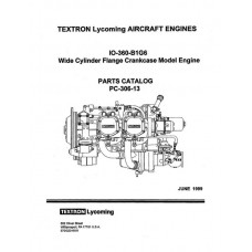 Lycoming IO-360-B1G6 WCFC Model Aircraft Engines PC-306-13 Parts Catalog 1999