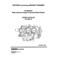 Lycoming IO-360-M1A WCFC Model Aircraft Engines PC-306-14 Parts Catalog 2000