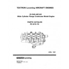Lycoming IO-540-AB1A5 WCFC Model PC-615-10 Parts Catalog 1997