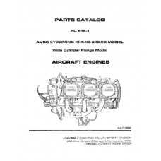 Lycoming IO-540-C4D5D Model WCF PC-615-1 Parts Catalog 1982
