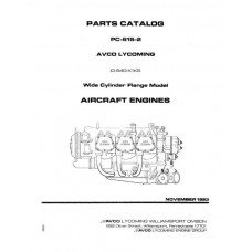 Lycoming IO-540-K1K5 WCF Model PC-615-2 Parts Catalog 1983