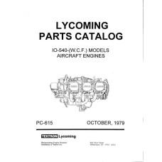 Lycoming IO-540 Series WCF Models PC-615 Aircraft Engines Parts Manual