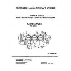 Lycoming IO-540-W Series WCFC Model PC-615-4 Parts Catalog 1993