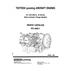 Lycoming IO,AIO-360-A, B Series WCF Models PC-406-1C Parts Catalog 1991